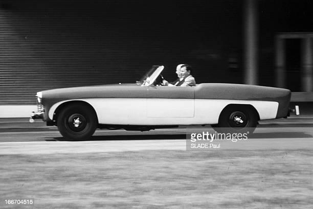 The Steam Car. Etats-Unis-13 decembre 1968- La voiture à vapeur, la Ford 4 cylindres, 707 cm3, 1700kg, invention des frères jumeaux Calvin et Charles...