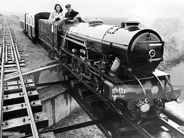 The steam engine hercules on the Romney Hythe and Dymchurch Light Railway in Kent 14th February 1970