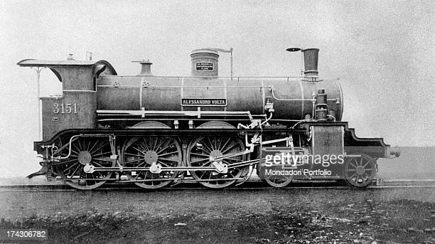The steam locomotive Alessandro Volta is exhibited at the Exposition Universelle of Paris Paris 1900
