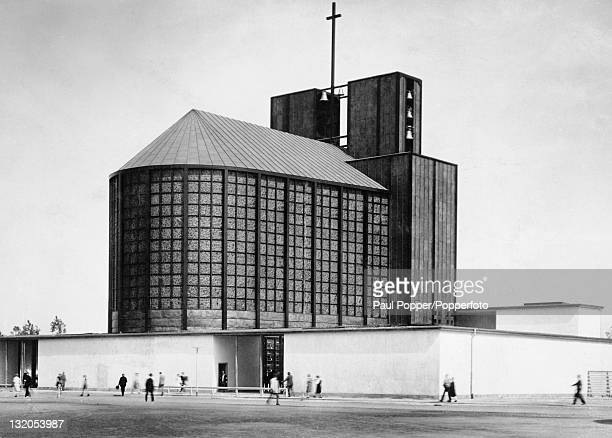 The Steel Church in Essen, Germany, built by architect Otto Bartning, circa 1935. Originally constructed for the Evangelical Exhibition in Cologne in...