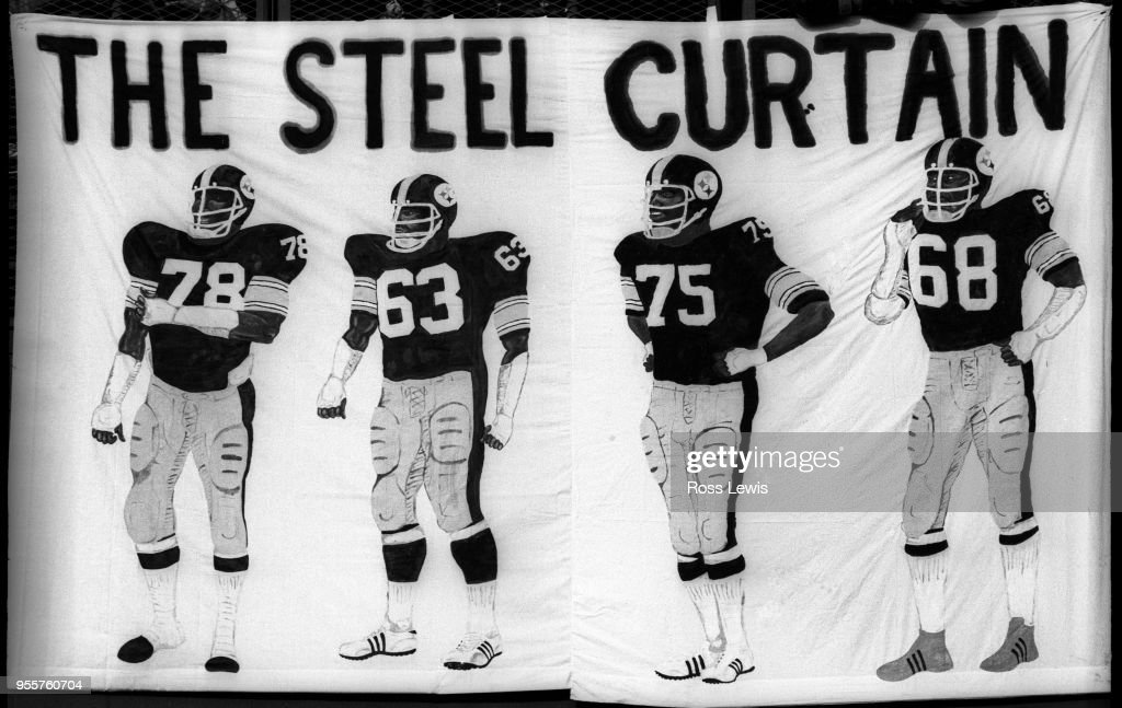 The Steel Curtain Defense Of Pittsburgh Steelers Is Memorialized By An Artist On