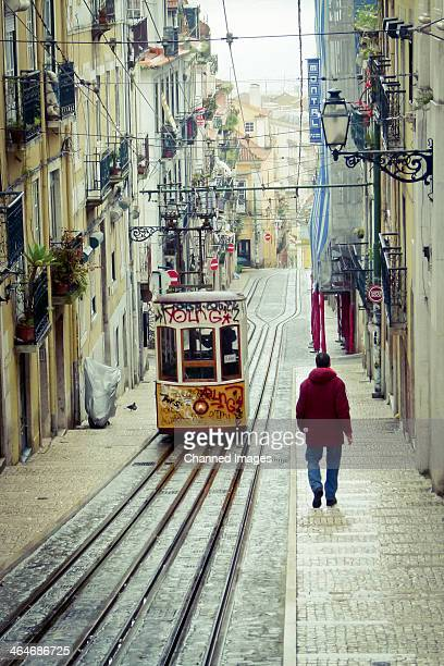 The steep terrain of Lisbon has led to the funicular railroad complementing the network of public transport. The funiculars or elevadores are a...