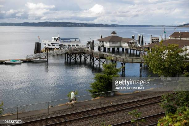 The Steilacoom Ferry dock is pictured near Ketron Island the crash site of the Horizon Air Bombardier Q400 turboprop that was stolen from SeaTac...