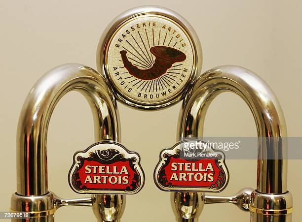 The Stella Artois corporate logo at the Inbev Brewery on November 30, 2006 in Leuven, Belgium. InBev, the world's largest beer producer by volume,...
