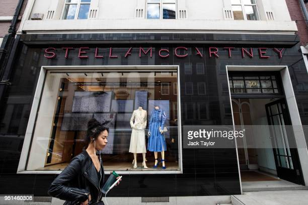The Stella McCartney store stands in Mayfair on April 26 2018 in London England The designer for Meghan Markle's wedding dress has yet to be...
