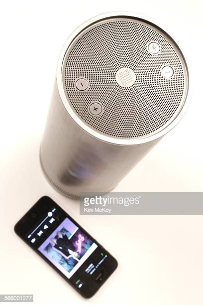 The Stelle Audio Couture Pillar bluetooth speaker retails for $349 photographed in the Los Angeles Times studio