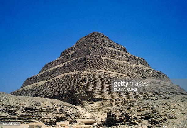 The stepped pyramid of Djoser at Saqqara Memphis Egypt Egyptian civilisation Old Kingdom Dynasty III