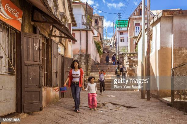 the steps of antananarivo, madagascar - antananarivo stock photos and pictures