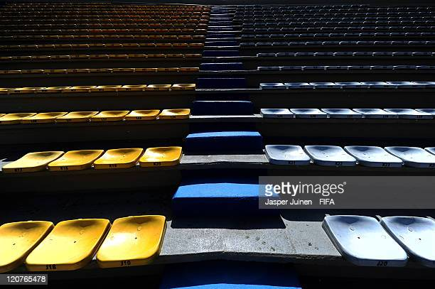 The steps of the Atanasio Girardot stadium prior to the FIFA U20 World Cup Colombia 2011 round of 16 match between Argentina and Egypt at on August 9...