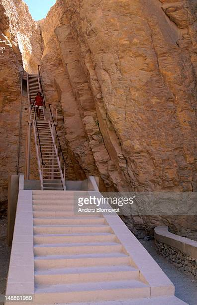 The steps to the Tomb of Tuthmosis III in the Valley of the Kings.