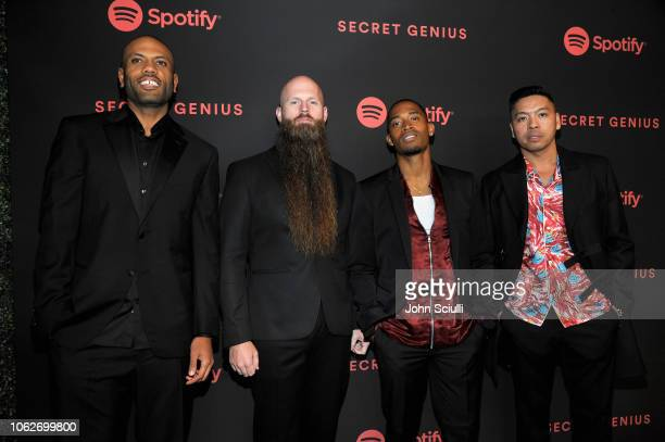 The Stereotypes attend Spotify's Secret Genius Awards hosted by NEYO at The Theatre at Ace Hotel on November 16 2018 in Los Angeles California