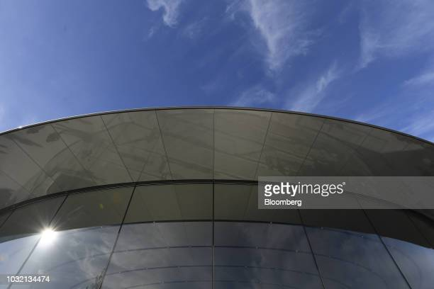 The Steve Jobs Theater stands ahead of an Apple Inc event in Cupertino California US on Wednesday Sept 12 2018 Apple will kick off a blitz of new...