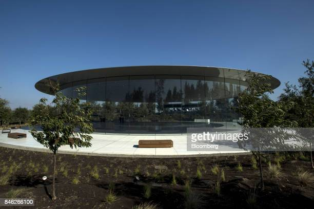 The Steve Jobs Theater stands on the Apple Inc campus after an event in Cupertino California US on Tuesday Sept 12 2017 Apple unveiled its most...
