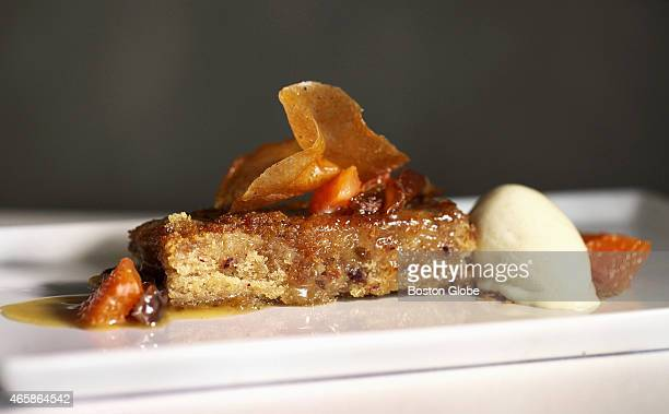 The sticky toffee cake with bourbon ice cream from 80 Thoreau in Concord Mass on February 24 2015
