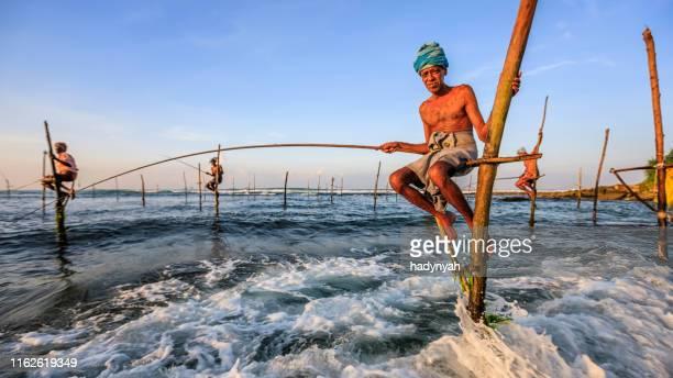 職場の漁師、スリランカ、アジア - ゴール市 ストックフォトと画像