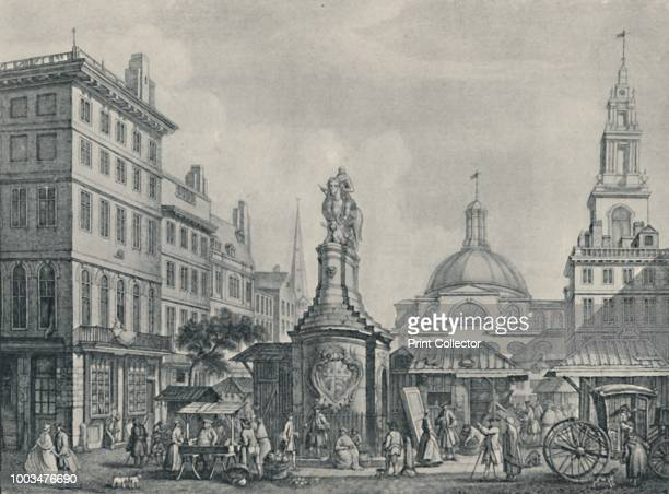The Stocks Market 1738' 1920 From Londoners Then and Now As Pictured By Their Contemporaries edited by Geoffrey Holme [The Studio Ltd London 1920]...