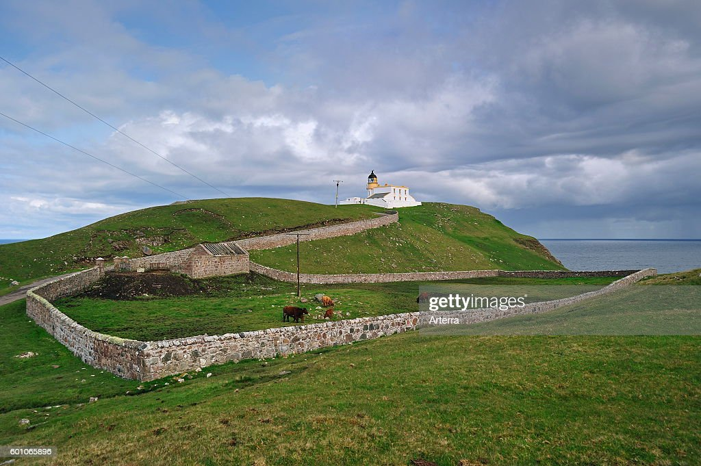 The Stoer Head Lighthouse at the Point of Stoer in Sutherland : News Photo
