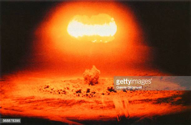 The Stokes nuclear test in Nevada. 25th June 1957. Test of the nuclear warhead W-30 as part of Operation Plumbbob. The military was also interested...