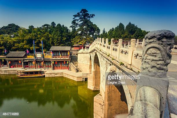 The stone bridge in the Summer Palace
