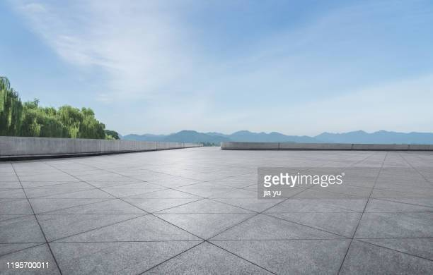 the stone platform of the park. - construction platform stock pictures, royalty-free photos & images