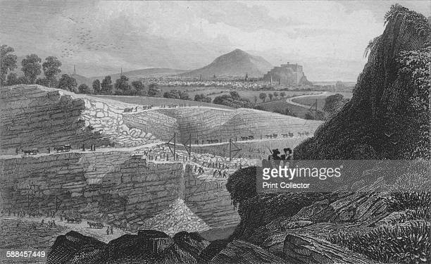 The Stone Quarries Craigleith near Edinburgh From Which the New Town was Built' 1829 Located two miles northwest of Edinburgh city centre Craigleith...