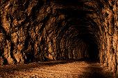 The stone secret cave inside