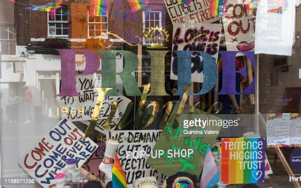 The Stonewall Inn, a pop up store at 53a Neil Street celebrates Pride Jubilee, marking 50 years of activism since the 1969' Stonewall Riot, on June...