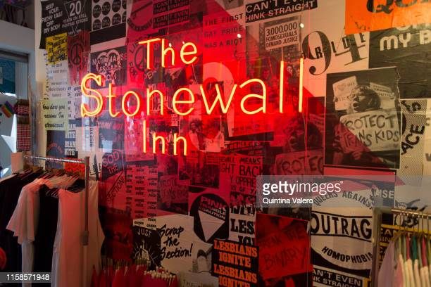 The Stonewall Inn a pop up store at 53a Neil Street celebrates Pride Jubilee marking 50 years of activism since the 1969' Stonewall Riot on June 2019...