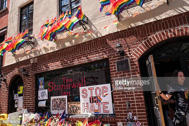 The Stonewall Inn is seen from the street on June 24 2016 in New York City President Barack Obama designated Stonewall Inn and approximately 77 acres...