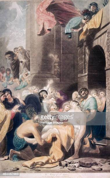 'The stoning of St Stephen' 1801 from the original picture in St Stephen Walbrook London