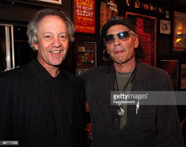 The Stooges' Scott Thurston and Ron Asheton backstage at Jam For Ron Asheton A Tribute To the Late Guitarist of The Stooges on January 13 2010 in Los...