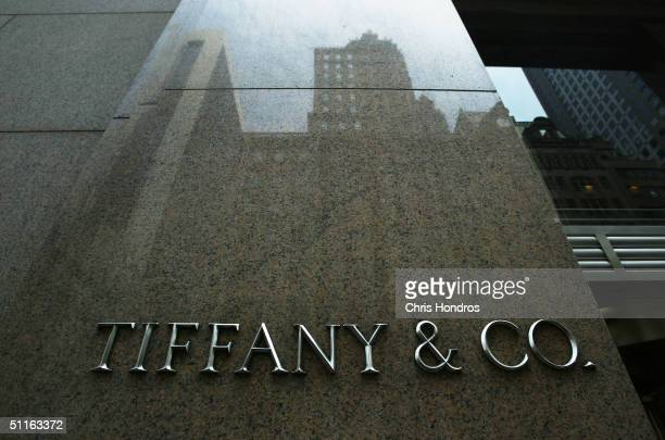 The storefront of Tiffany & Co. August 12, 2004 in New York City. The luxury jeweler announced on August 12 that quarterly profit fell 11 percent,...