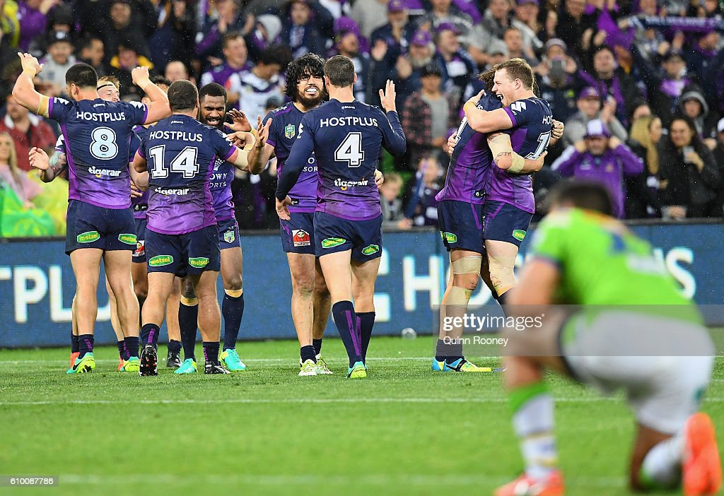 NRL Preliminary Final - Melbourne v Canberra : News Photo