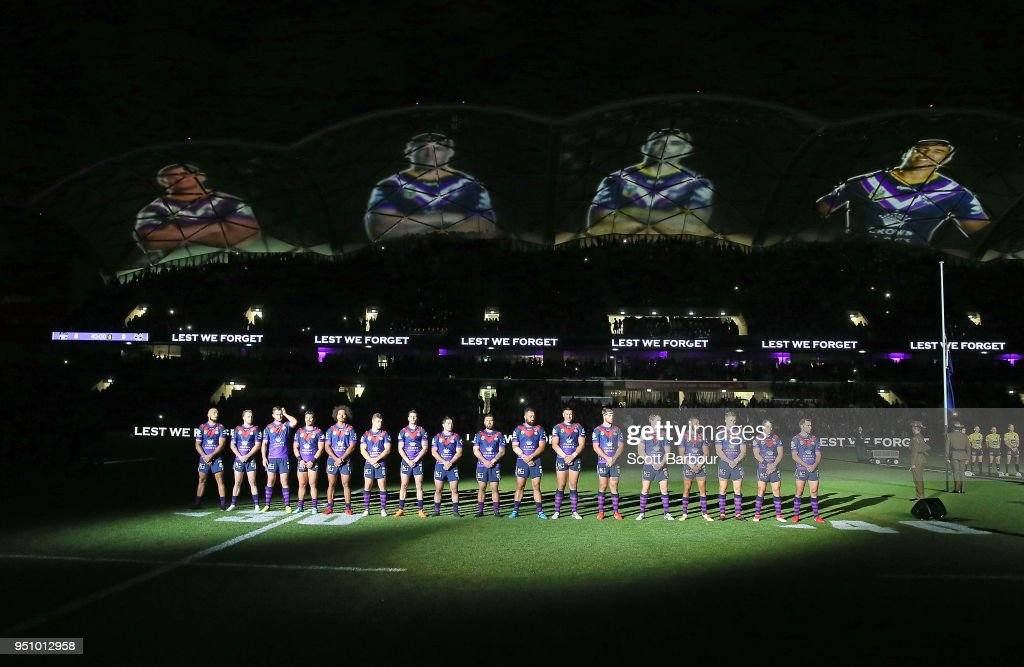 NRL Rd 8 - Storm v Warriors : ニュース写真