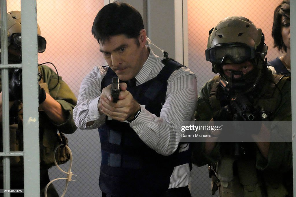 MINDS - 'The Storm' - The BAU is shocked when SWAT apprehends Hotch (Thomas Gibson) and accuses him of conspiracy. As the team scrambles to prove his innocence, they suspect a larger plot is on the horizon, on CRIMINAL MINDS, Wednesday May 4, 9:00-10:00. THOMAS