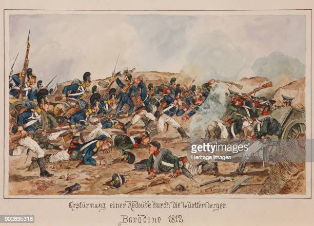 The storming of a Redoubt by the Wurttemberg troops. Borodino 1812. Private Collection.