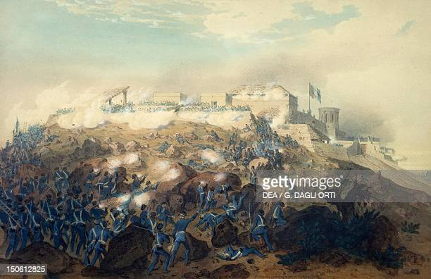 The storming of Chapultepec Castle by American troops September 14 by Carl Nebel engraving by Jean Baptiste Bayot Adolphe MexicanAmerican War Mexico...