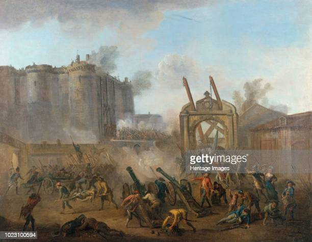 The Storming of the Bastille on 14 July 1789 circa 1789 Found in the Collection of Musée Carnavalet Paris