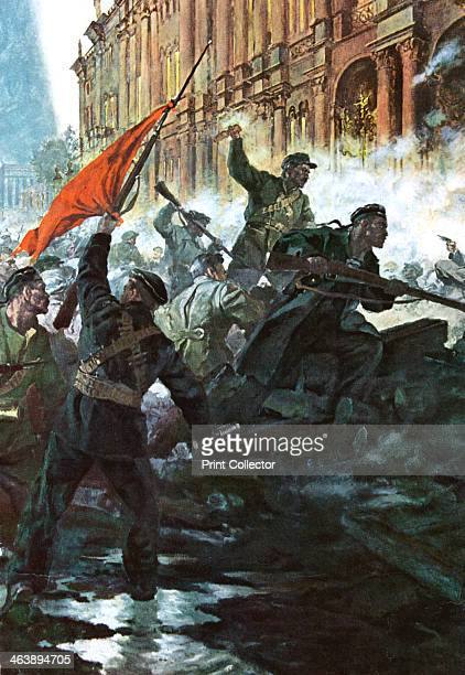 The storming of the Winter Palace St Petersburg Russian Revolution October 1917