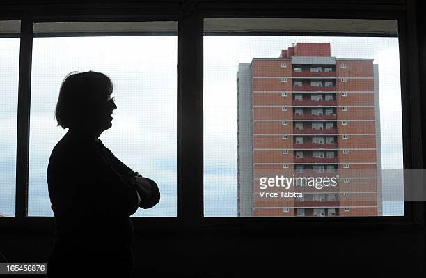 02/18/10 The story is about landlords who are stiffing their tenants our of the cityimposed rent reductions Maria Oncel in her apartment