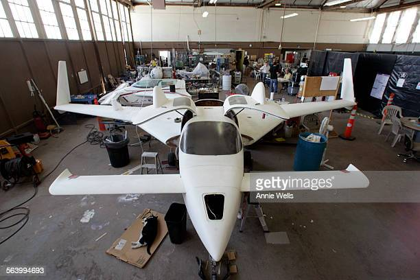 The story is about the new generation of private space companies operating at Mojave Air and Space Port This photo is an overall of the XCOR shop...