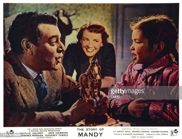 The Story Of Mandy lobbycard British lobbycard from left Jack Hawkins Phyllis Calvert Mandy Miller 1952