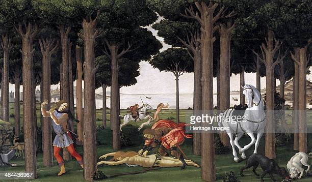 The Story of Nastagio degli Onesti ca 1483 Found in the collection of the Museo del Prado Madrid