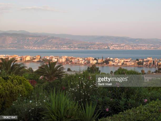 The Strait of Messina on August 7,2013 in Messina, Italy.