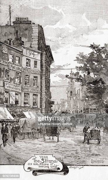 The Strand City of Westminster Central London England in 1890 From The Strand Magazine Vol I January to June 1891