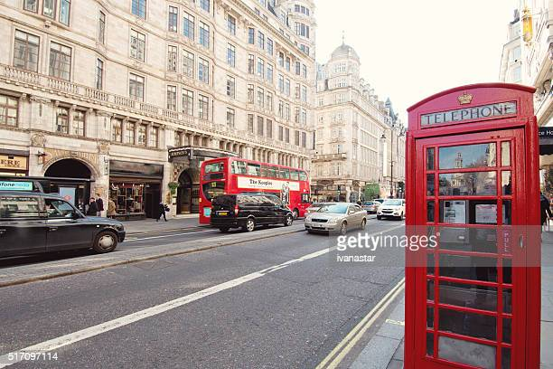The Strand in London with Telephone Booth
