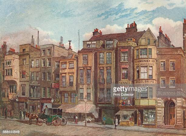 The Strand Opposite The Law Courts' Westminster London 1881 View of commercial premises From Lost London described by E Beresford Chancellor Artist...