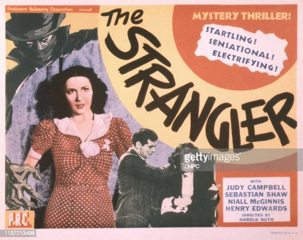 The Strangler, poster, , US poster, from left: Judy Campbell, Sebastian Shaw, Judy Campbell, 1941.