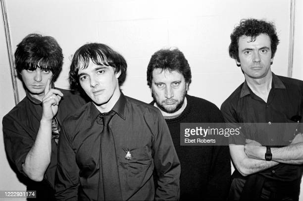 The Stranglers backstage at Irving Plaza in New York City on October 18, 1980.