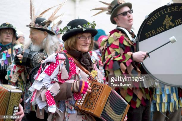 The Straw Bear Festival in Whittlesey near Peterborough United Kingdom on 13th January 2018 The traditional event was revived in 1980 and features a...